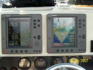 Marathon fishing charter boat electronics