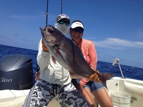 barrel fish caught deep dropping in Matrathon FL Keys
