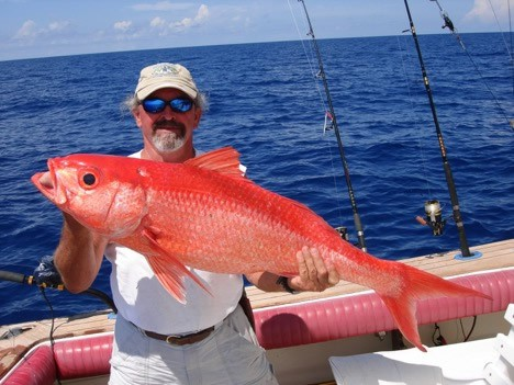 queen snapper caught deep dropping in Florida Keys