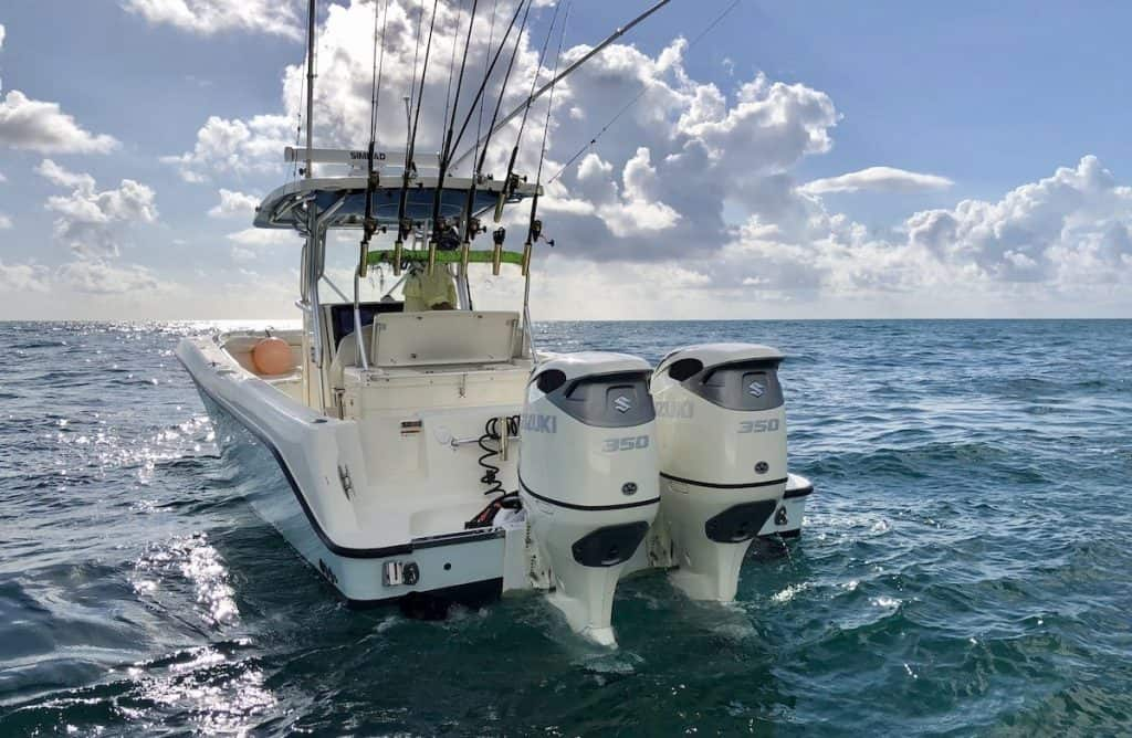 New twin 350hp motors to get you to the fish fast!